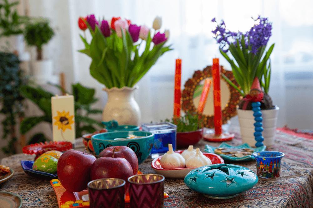 Haft Seen traditional table of Nowruz