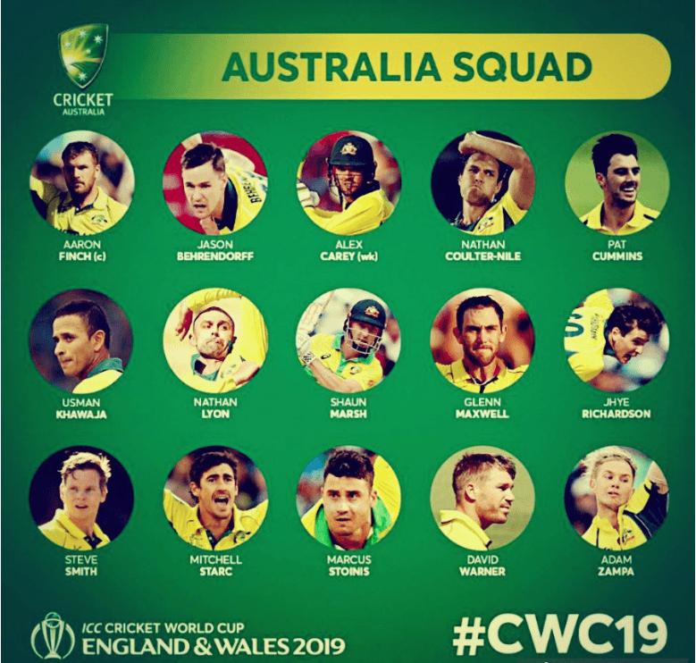 Australia Squad